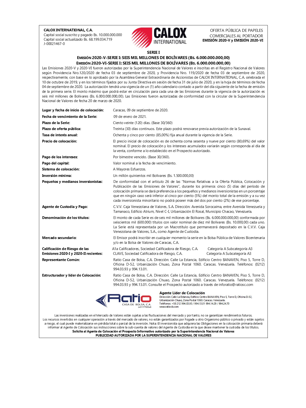 Calox 2020 V-VI
