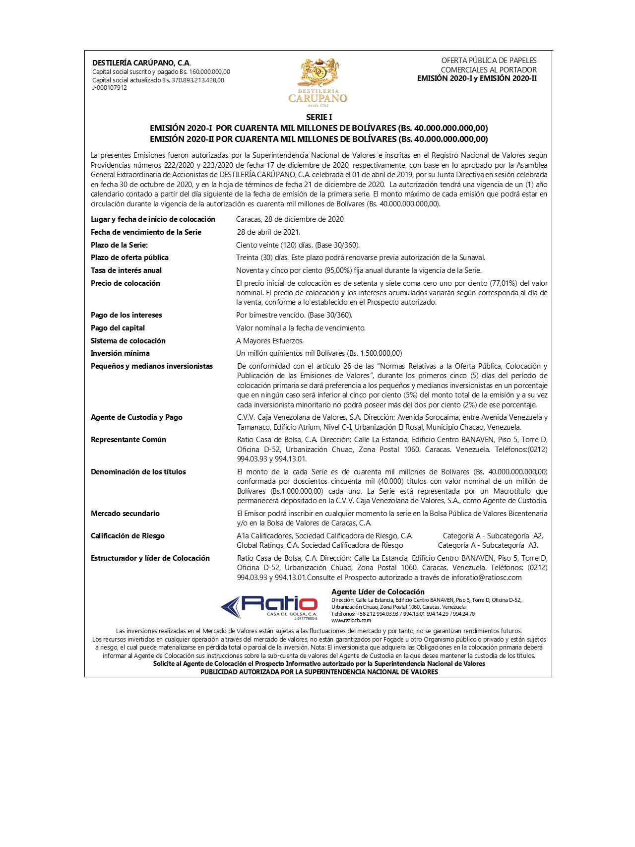 CARUPANO 2020 I-II